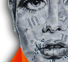 Newspaper Ink Design Twiggy Sticker