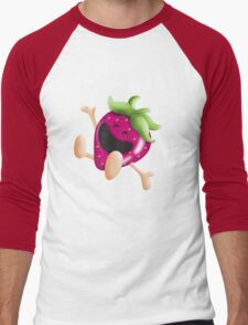 i love strawberries! Men's Baseball ¾ T-Shirt