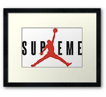 Supreme x Jordan Collab Framed Print
