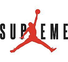 Supreme x Jordan Collab Photographic Print