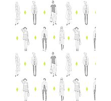 Street Fashion People Pattern Photographic Print