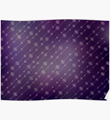 Modern texture. Abstract background with beads. Graphic linear waves Poster