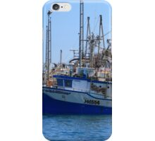 Fishing boats are moored in harbor ready for long weekend iPhone Case/Skin