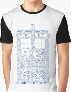 Doctor Who Typography Tardis Graphic T-Shirt