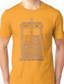 Doctor Who Typography Tardis Unisex T-Shirt