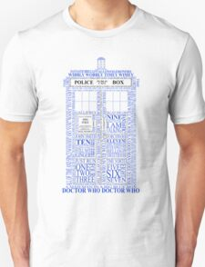 Doctor Who Typography Tardis T-Shirt