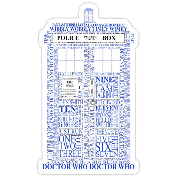 Doctor Who Typography Tardis by ArtsyDreamer