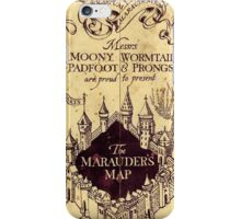 The Marauders Map iPhone Case/Skin