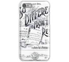 So Different From The Rest iPhone Case/Skin