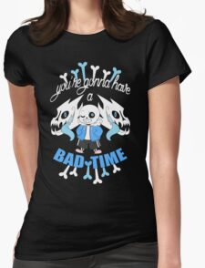 Bad Time Womens Fitted T-Shirt