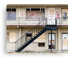 Abandoned motel 1 Canvas Print