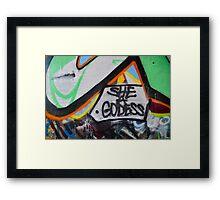 Abstract Graffiti Wall Art, She a Godess Framed Print