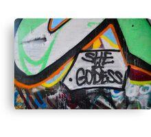 Abstract Graffiti Wall Art, She a Godess Canvas Print