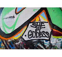 Abstract Graffiti Wall Art, She a Godess Photographic Print