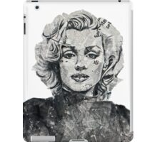 Newspaper Print of Marilyn Monroe iPad Case/Skin