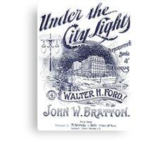 Under The City Lights Canvas Print
