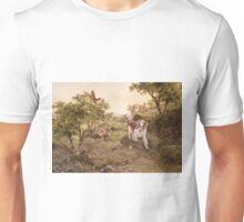 Welshie Springer Spaniel hunting pheasants Unisex T-Shirt