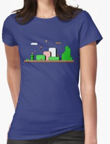 Super Mario Bros 3 Womens Fitted T-Shirt
