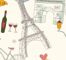 Paris symbols, postcard Sticker