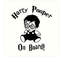 Harry Pooper On Board Art Print