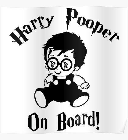 Harry Pooper On Board Poster