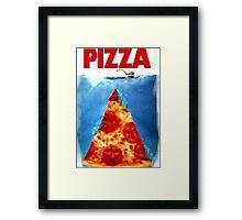 Pizza Shark Jaws Framed Print