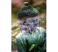 Buddha with Flower Asia Blooms Photographic Print