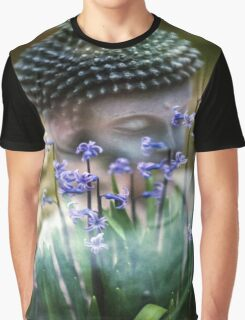 Buddha with Flower Asia Blooms Graphic T-Shirt