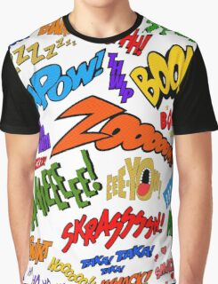 Onomatopoeia Collage #1 (1 of 2) Graphic T-Shirt
