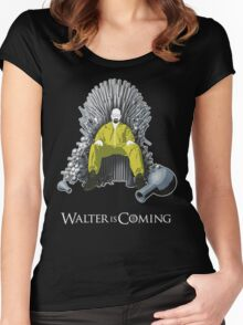 Walter is Coming - Breaking Bad x Game of Thrones  Women's Fitted Scoop T-Shirt
