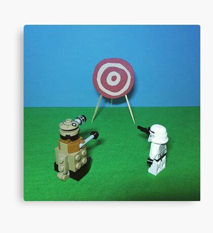 Intergalactic Shoot Off Canvas Print
