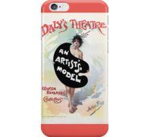 An Artist's model, Julius Price, Daly's Theatre London advert iPhone Case/Skin