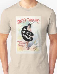 An Artist's model, Julius Price, Daly's Theatre London advert Unisex T-Shirt