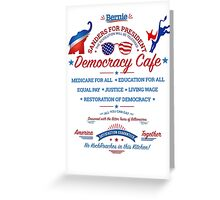 Bernies Democracy Cafe -No Kochroaches in this Kitchen! Clear Background Greeting Card