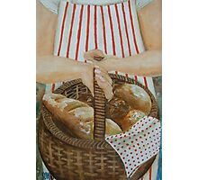 Bread in basket  Photographic Print