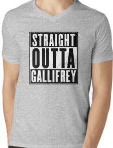 Doctor Who - Straight outta Gallifrey Mens V-Neck T-Shirt