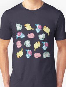 Pastel Neko Atsume Pattern  T-Shirt