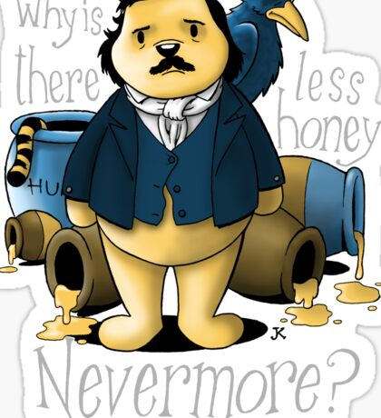 Edgar Allan Pooh Sticker