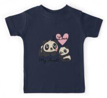 Kids Panda Bears I Love My Aunt Kids Tee