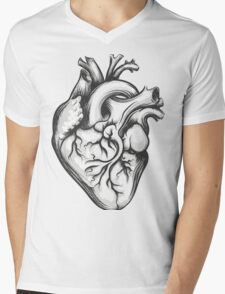 Human heart Mens V-Neck T-Shirt