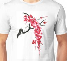 Pink flowers of sakura  Unisex T-Shirt