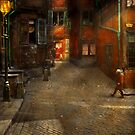 City - Germany - On a corner street 1904 by Mike  Savad