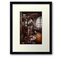 Machinist - Industrial Drill Press  Framed Print