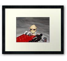 Lego Rey on her Speeder Framed Print