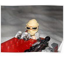 Lego Rey on her Speeder Poster