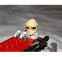 Lego Rey on her Speeder Photographic Print