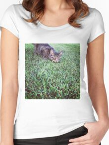 Cat on the Hunt Women's Fitted Scoop T-Shirt