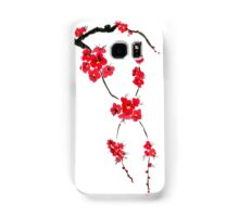 Red blossoming flowers of cherry Samsung Galaxy Case/Skin
