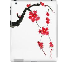 Red blossoming flowers of cherry iPad Case/Skin