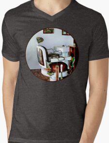 Barber Chair Mens V-Neck T-Shirt